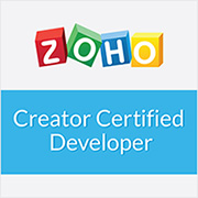 Zoho Creator Certified Developer